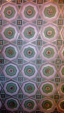 Warwick castle ceiling