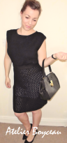 Atelier Boyceau black knitted dress
